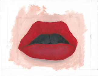 Lips Oil Painting by TarnishedHearts