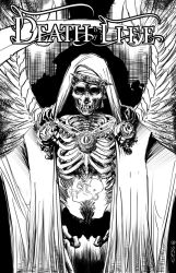 DEATH by LIFE cover BW by defected-angel
