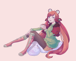 .: Sweet time with Suika:. by Tomato-IceCream