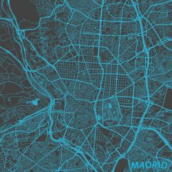 Madrid by MapMapMaps