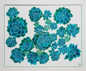 Turquoise Succulent by In13