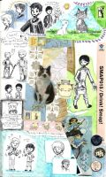 page - green grass, black and white cats by sweet-suzume