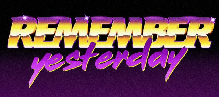 80s logo - Remember Yesterday by Bulletrider80s