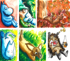 Moomin Watercolour Sketches by StarlightCrux