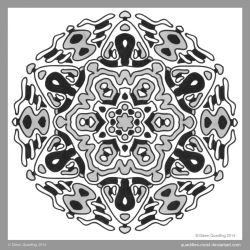 Fridays Sadly Beautiful Mandala II by Quaddles-Roost