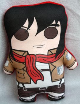 Mikasa inspired Plush by Cyber-Scribe-Screens