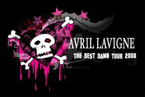 Avril Lavigne Tour Tee 2 by nathanielwilliam