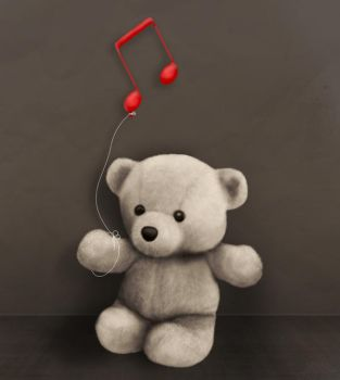 teddy bear music colourish by Damian6347177