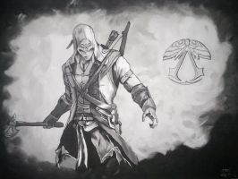 Assassins Creed 3 - drawing by BEAST-SUC
