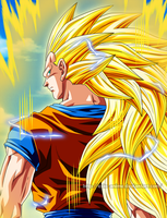 Goku Ssj3 by Ezio-anime