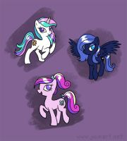Before They Were Alicorns by JoieArt