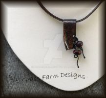 Lampwork Bead and Copper Necklace by bgfdesigns