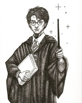 Inktober Day 20- Harry Potter.  by jenc