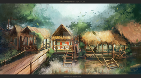 Environment sketches| In the jungle by FlerPainter