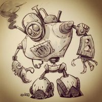 SketchBomb - New Delhi #1 : Steampunk Robot by kshiraj