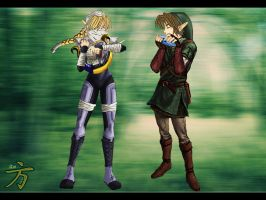 Sheik and link tp and Oot by xIchixCoolxGirlx