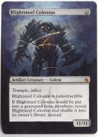 MTG Altered Art: Blightsteel Colossus by LXu777