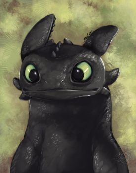 ::Toothless Speed-painting:: by IvyBeth
