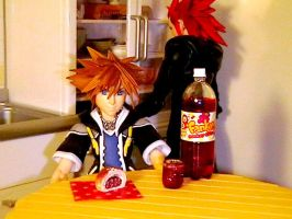 Sora and Grape Juice by ivory5