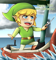 15th Anniversary of The Legend Of Zelda Wind Waker by Rodrig0x