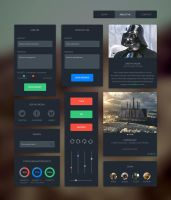 Dark UI Kit by DarkStaLkeRR