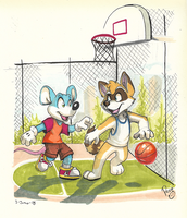 Street Basketball by pandapaco