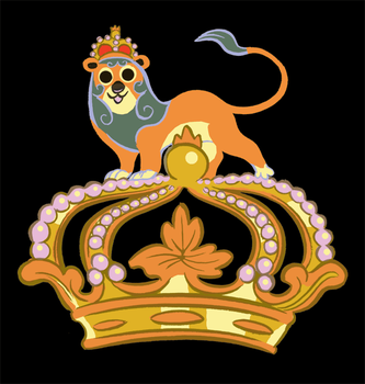 Lion on crown by Pocketowl