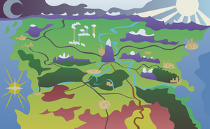 Map of Equestria (artistic) by AxemGR