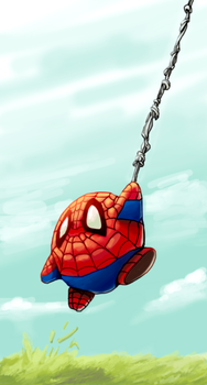 Spidey Kirby by soulrailer