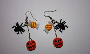 Earrings for Halloween by Convallarianovembris