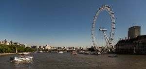 The London Eye on the Thames. by BusterBrownBB