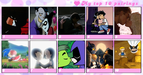 My Top 10 Pairings by DarthWill3