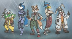 Starfox Lineup by Mad-But-Happy
