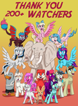 Thank you for Over 200 Watchers by PegasusJedi