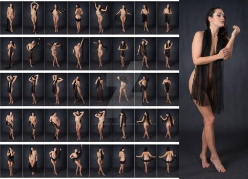 Stock: Bree Addams Sheer Scarf Nude - 40 Images by stockphotosource