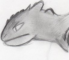 HTTYD: Toothless Doodle by kakashisgirlfighter