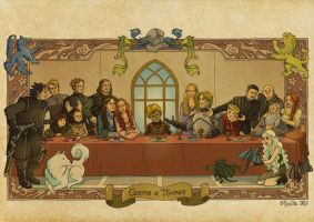 Game of Thrones s.1 Last Supper by sheilalala