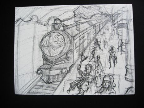 Train Station for the Quirky Gears by neige-WIP