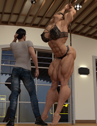 Sonya Learing to Pole Dance Part 4 by ReddofNonnac