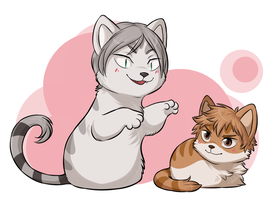 Haikyuu Atsume!! [Lev + Yaku] by ThatWildMary