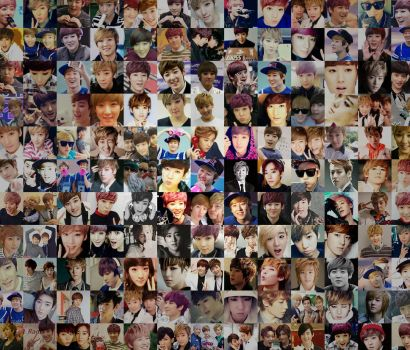 Kevin Icon Collage Android Wallpaper by SeoulSweetheart