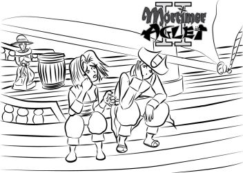 Mortimer and Tiff not happy about being on a boat by MortimerAglet