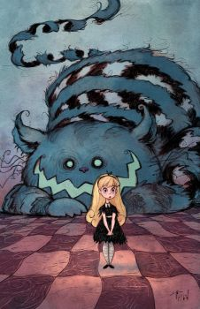Alice and the Chesire Cat by matthewart