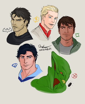 DC - Justice League Headcanon Busts by Harseik