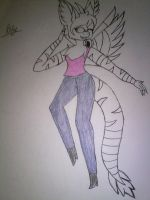 Lily the angel dragon by Illiterate-Swine