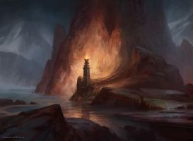 Mountain (Innistrad Normal) by AdamPaquette