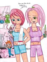 Girls Drinking Bubble Tea with Tapioca Planets by ZacharyXNYC