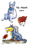 Croods Animals by Chaluny