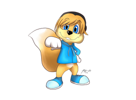 Pewdie as conker by Amy-Oh