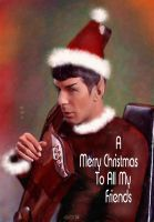 Santa Spock by karracaz